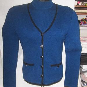 st john 2 pcs suit jacket shell top coat blazer